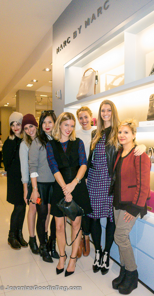 Lucky Magazine's Jayna Maleri, Jenna Gottlieb, Melissa Lum, MMJ PR Girl, Laurel Pantin, Noelle Sciacca, and Jesenia (JGB Editor)