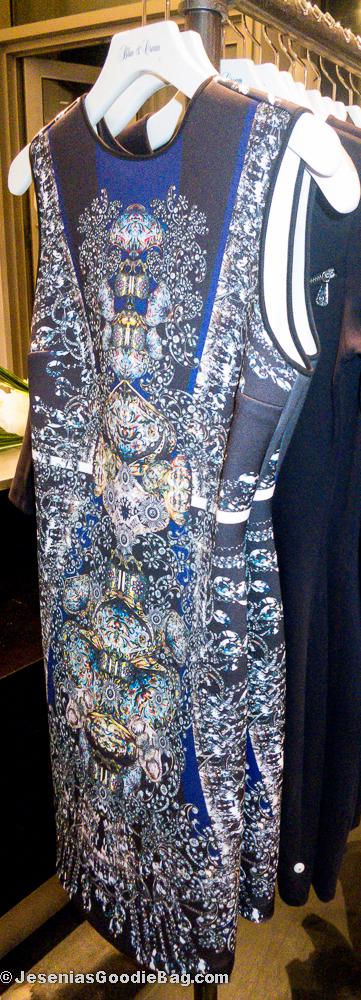 Dress (Blue & Cream)