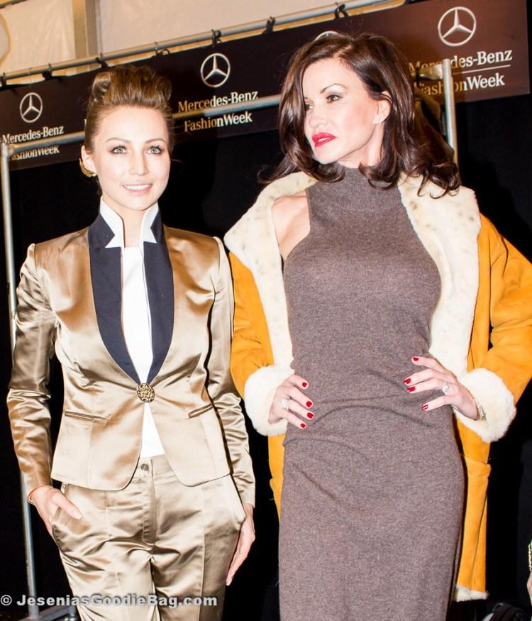 Janice Dickinson wearing Katya Zol - Fall 2014 (With: Katya Zol)