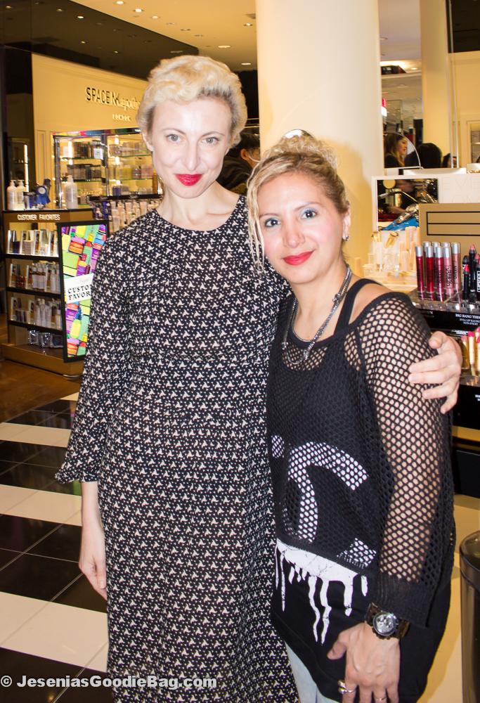 Poppy King (Lipstick Queen) with Jesenia (JGB Editor)