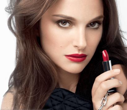 Natalie Portman for Dior Rouge (Red Lips)