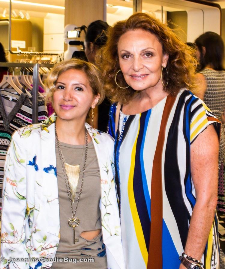 Jesenia (JGB Editor) with Diane Von Furstenberg