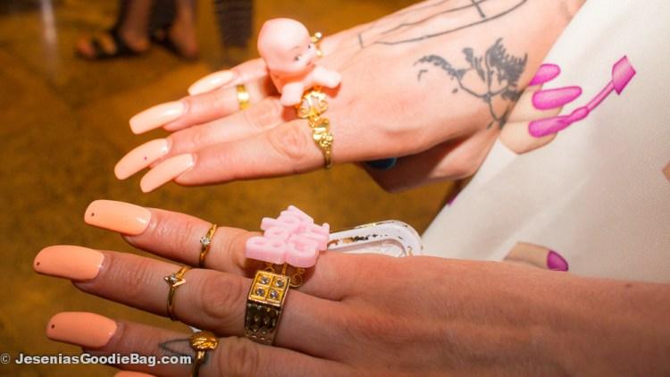 Aretha Sack. (Wearing: Floss Gloss BabyGirl rings, Floss Gloss nail polish in Pony)