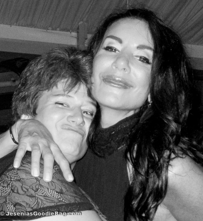 Danielle Staub poses with mega fan