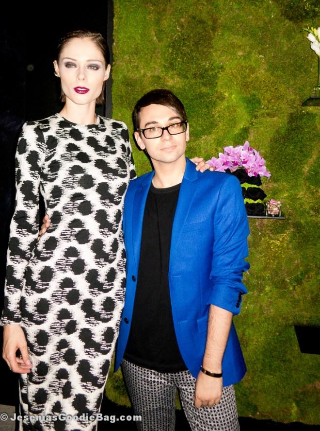 Coco Rocha (Model) with Christian Siriano (Designer)