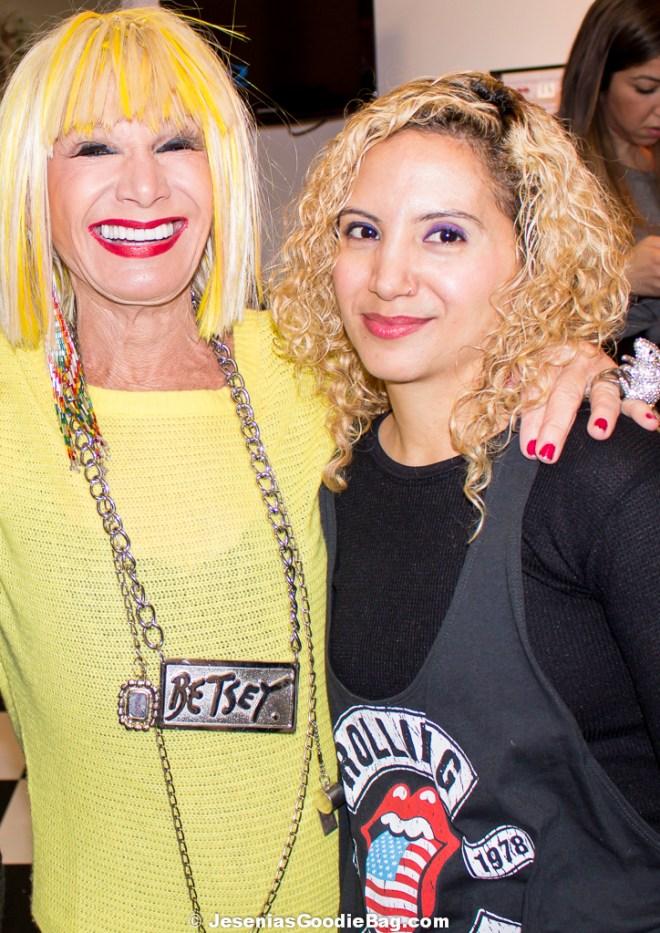 Betsey Johnson with Jesenia (JGB Editor)