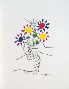 Barking up the Muse Tree | Jespah | Janet Gershen-Siegel | Picasso - Hands Holding Flowers | Otra