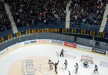 Jonas Almtorp - AIK, celebrates his goal against Tingsryd in the HockeyAllsvenska Finalen. 2016-03-03