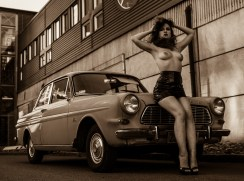 """Girl and old car"" - Foxy Cherry"