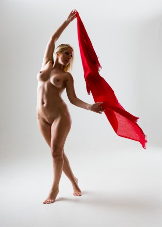 """Nude with flying scarf"" - Model: Metrapole"