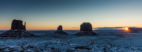 """Snow morning in Monument Valley"""