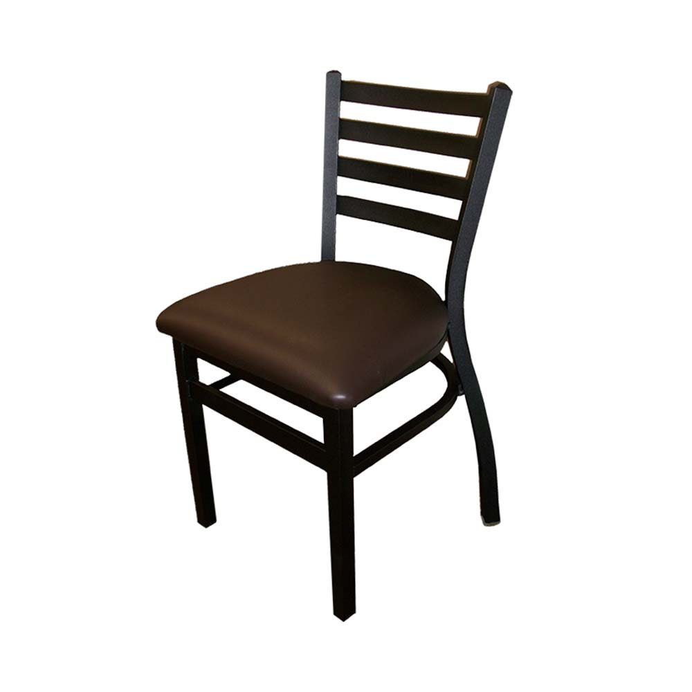 Stacking Dining Chairs Oak Street Od St2160 Stacking Dining Chair Indoor Outdoor Ladder Back Upholstered Seat Black Vinyl