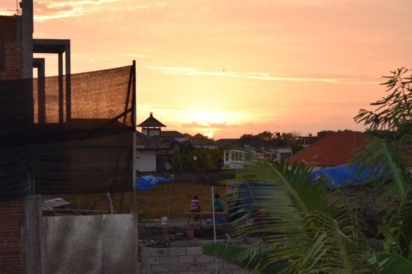 View from the guesthouse, Canggu, Bali, Indonesia