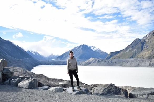Tasman Glacier Lake, top of Blue Lakes hike, Mt. Cook