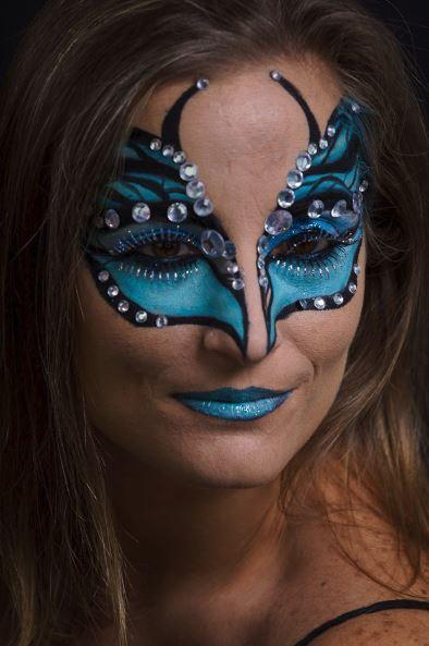 Blue Butterfly Halloween Makeup Jess Bonilla