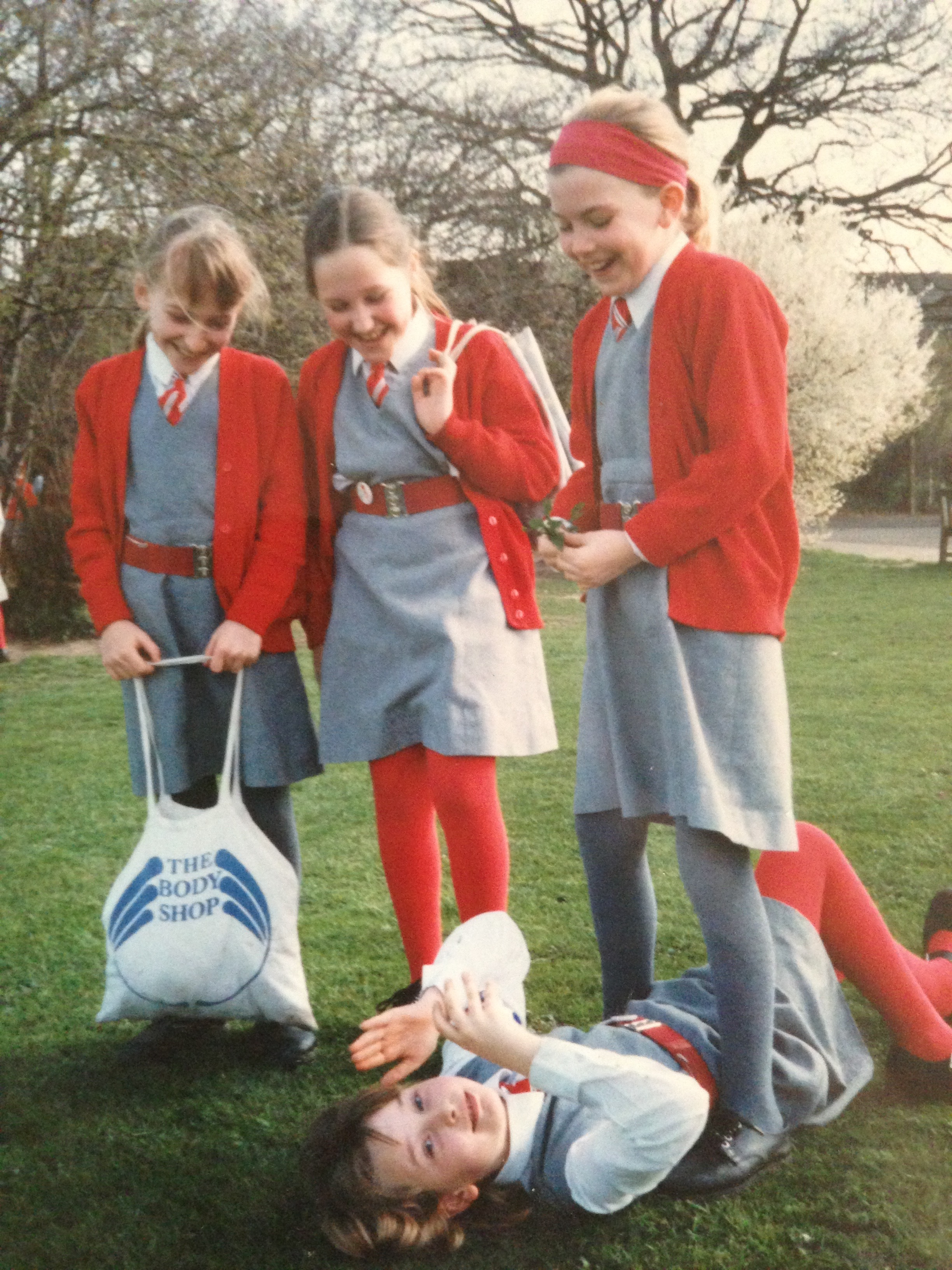 Pretty sure I destroyed most photos of school days but these 3 girls were with me the longest while there!