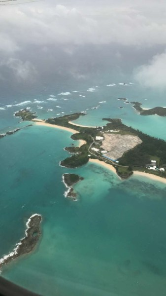 Bermuda from the plane