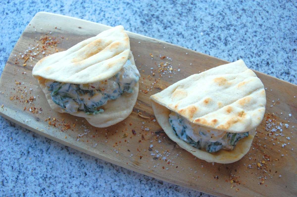 Spinach and Yoghurt Flatbreads/ Sabse Borani