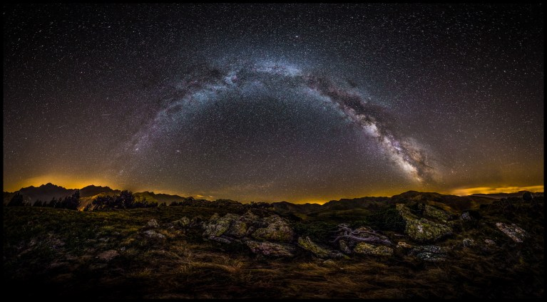 Spanish Pyrenees Milky Way Panorama