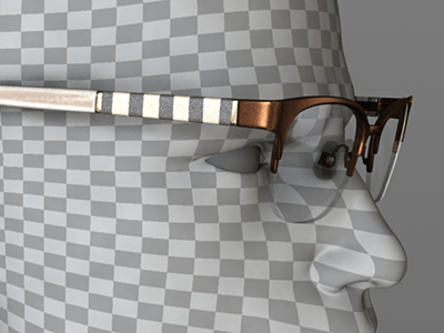 Copper, striped leather and off-white under clear-coat