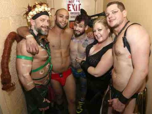 Dirk Caber, Leo Forte, Draven Torres, Mr. Pam, and Blue Bailey