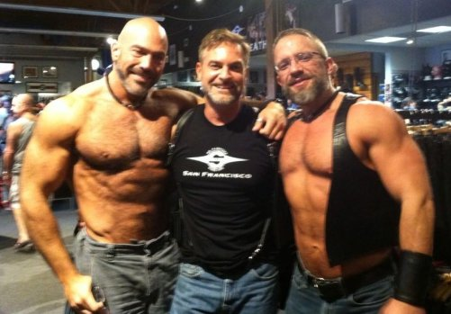 Me, Kris, and Dirk at Mr. S Leather