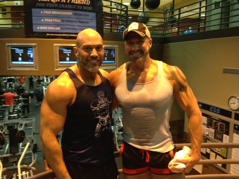 Me and Dallas Steele (evening workout)
