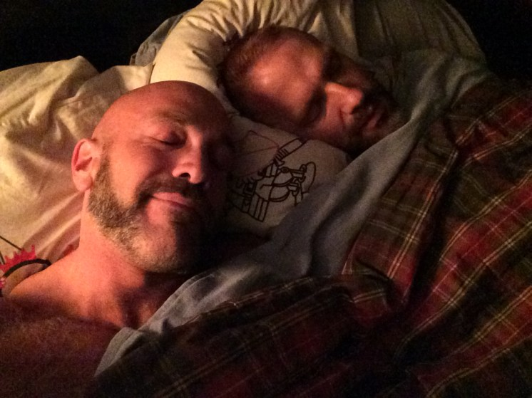 Back in our own bed!