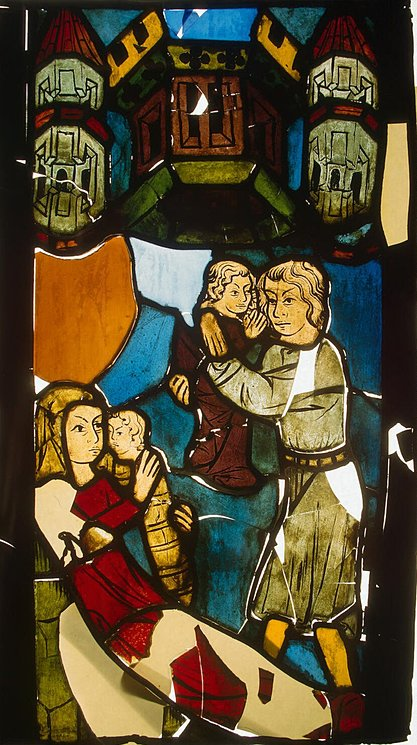 Stained-Glass-Panel-the-Birth-of-Cain-and-Abel