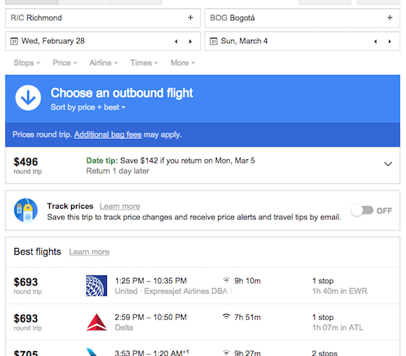 Where to find the old Google Flights site