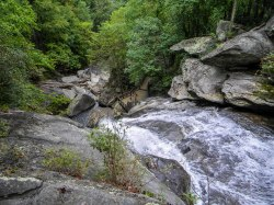 Top of High Shoals Falls - High Shoals Falls Loop Trail - South Mountains State Park, NC