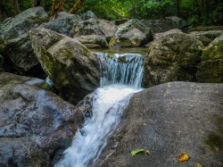 Waterfall - High Shoals Falls Loop Trail - South Mountains State Park, NC