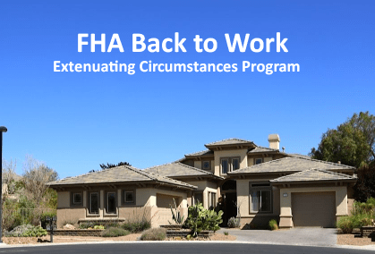FHA Back to Work Program