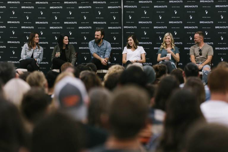 This is a shot of the Artists doing Q&A in a breakout session early in the day before the show.