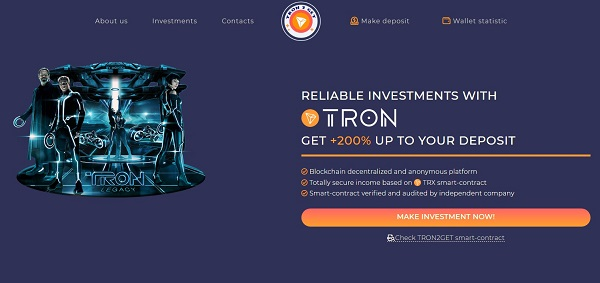 Tron2get website
