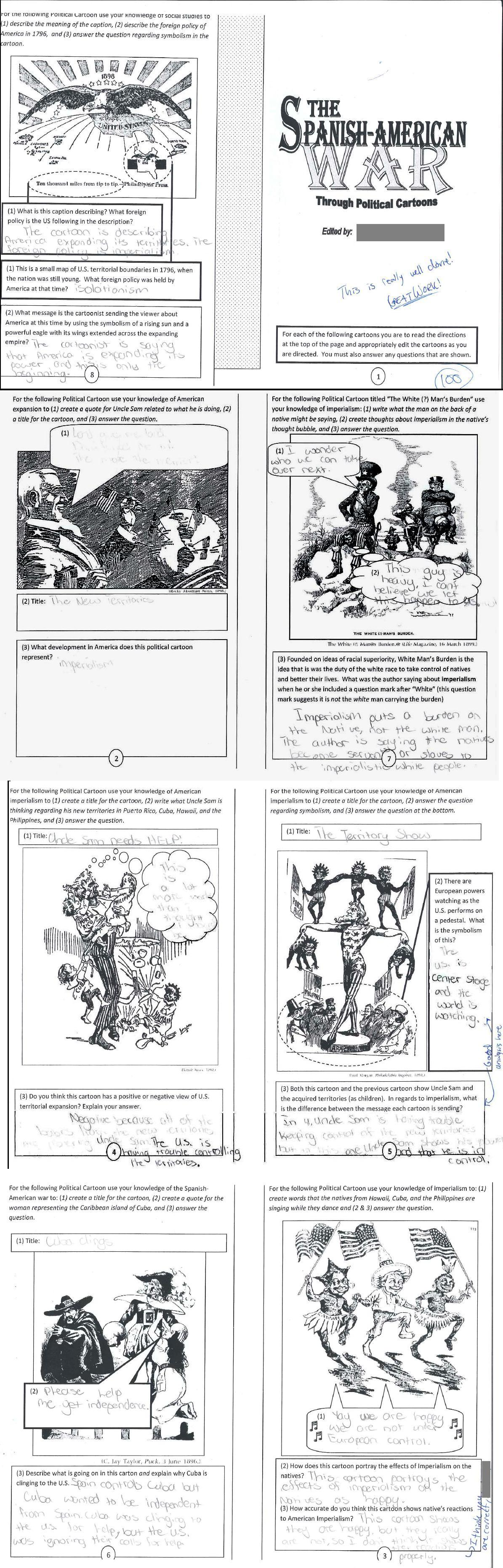 Imperialism Political Cartoon Worksheet