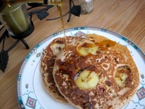 Cinnamon Pecan Banana Pancakes