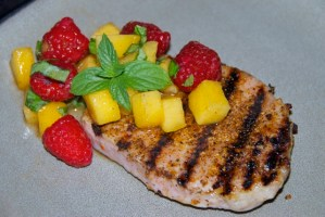 Grilled Pork Chops with Summer Salsa