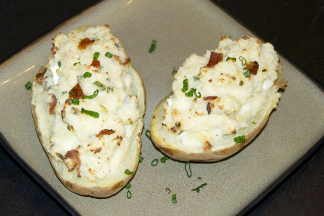 Goat Cheese and Bacon Twice-Baked Potatoes