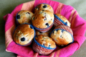 Lemon Dewberry Muffins