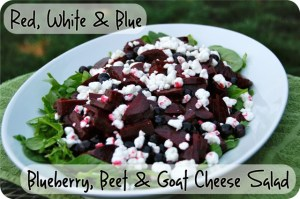 Blueberry, Beet and Goat Cheese Salad