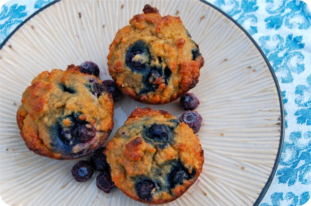 Triple Coconut Blueberry Muffins