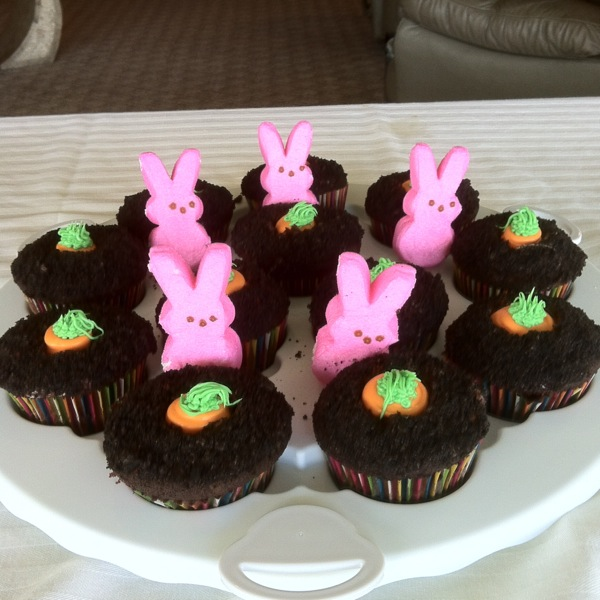 Bunnies in the carrot patch! Carrot Patch Cupcakes