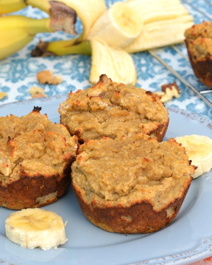 Coconut Flour Banana Nut Muffins