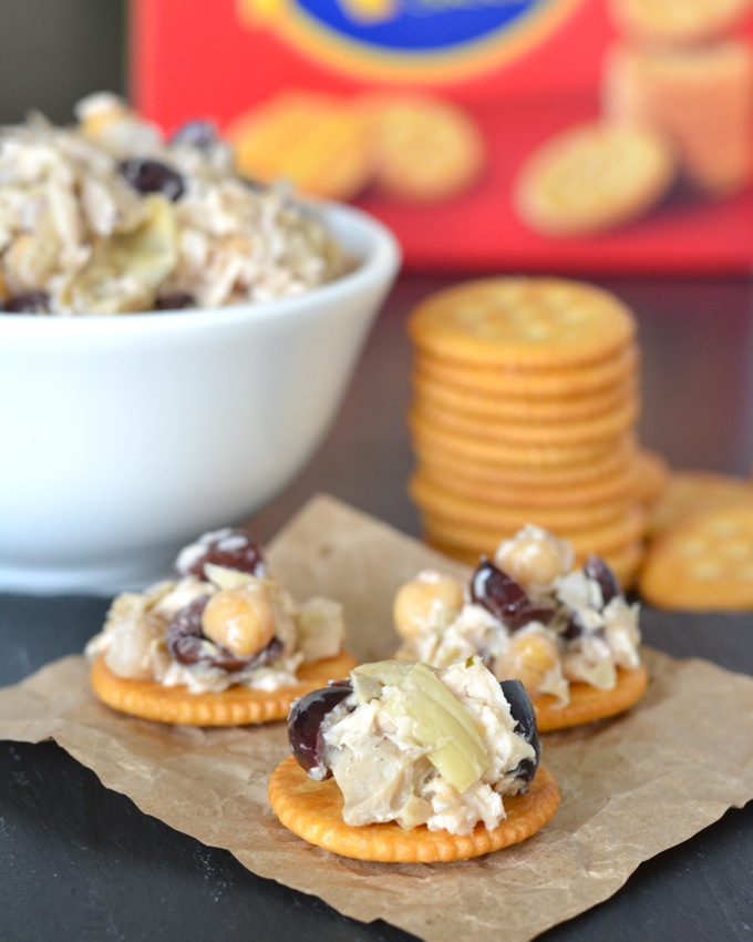 Mediterranean Tuna Salad on Ritz Crackers #PutItOnARitz