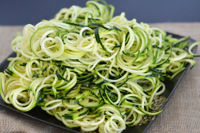 Zoodles - Spiralized Zucchini Noodles