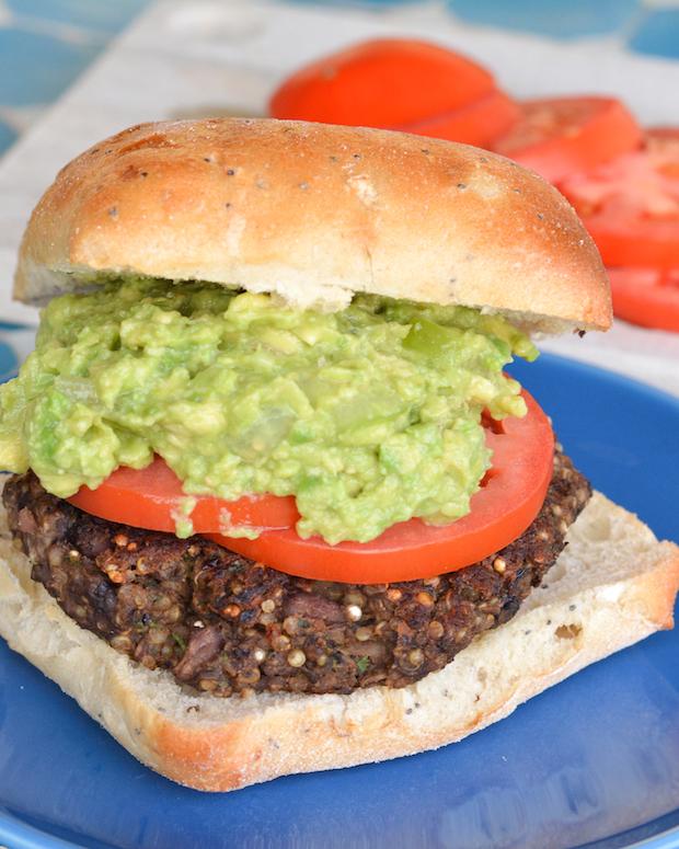 Quinoa and Black Bean Veggie Burgers