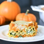 Pumpkin and Spinach Lasagna Rolls