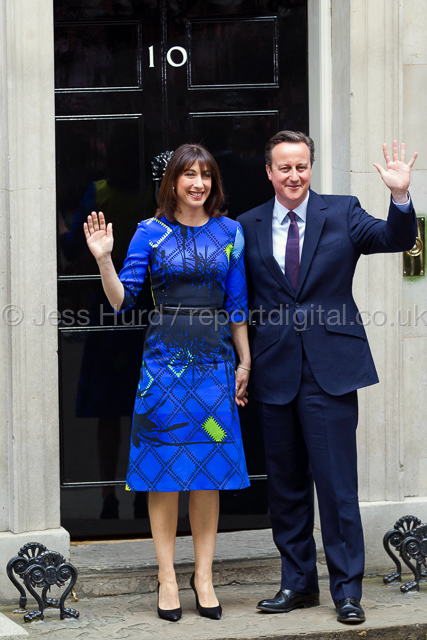David Cameron announces his majority government after winning the General Election. Downing Street, London. © Jess Hurd/reportdigital.co.uk Tel: 01789-262151/07831-121483   info@reportdigital.co.uk   NUJ recommended terms & conditions apply. Moral rights asserted under Copyright Designs & Patents Act 1988. Credit is required. No part of this photo to be stored, reproduced, manipulated or transmitted by any means without permission.