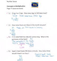 Jump Math 5.1 Number Sense – Multiplication – Page 77   Jessica's School  Work \u0026 Projects [ 2338 x 1700 Pixel ]